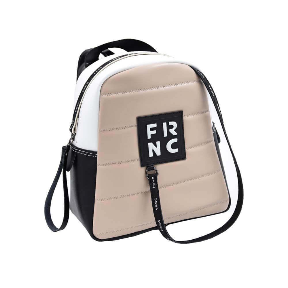 TFA - Σακίδιο πλάτης (backpack) FRNC-2131 Λευκό-Μπεζ