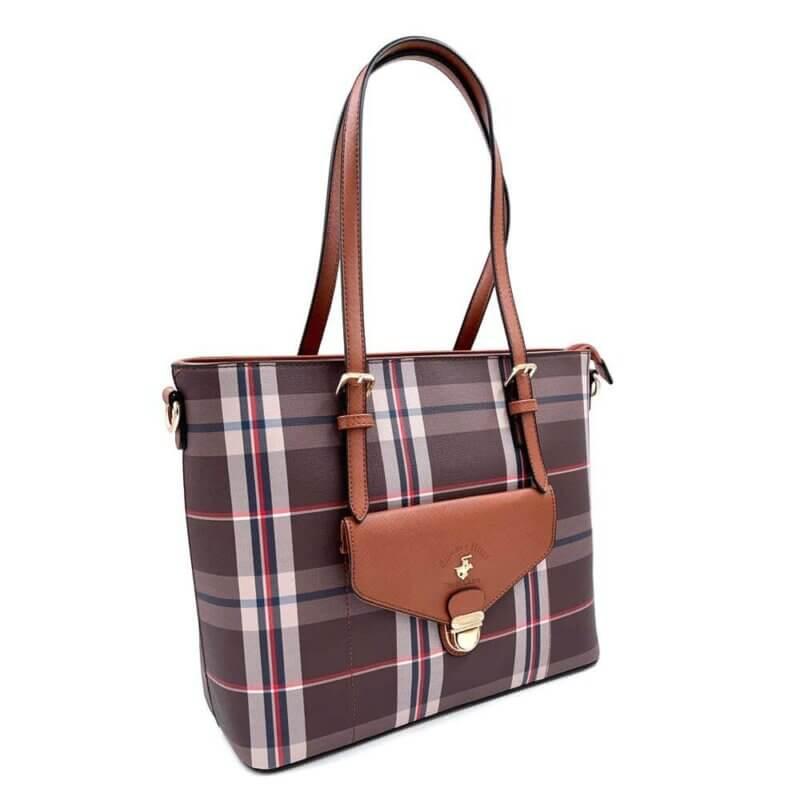 TFA - Τσάντα χειρός POLO BH2321-CUOIO
