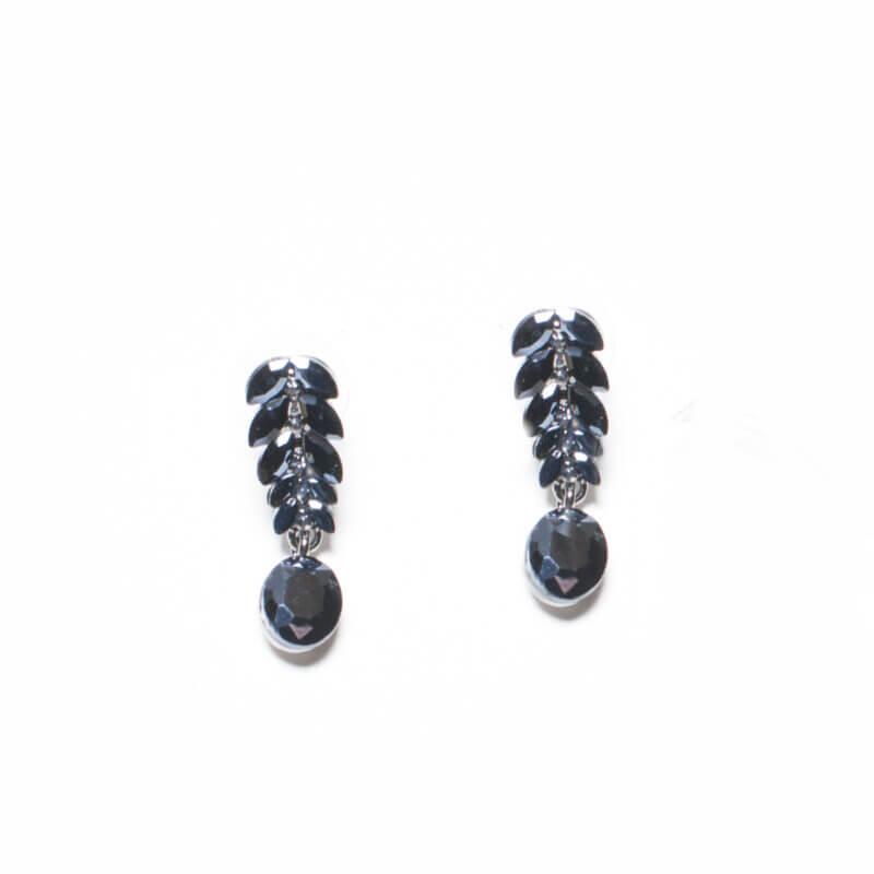 TFA - Χειροποίητα βραδινά σκουλαρίκια σε μαύρο