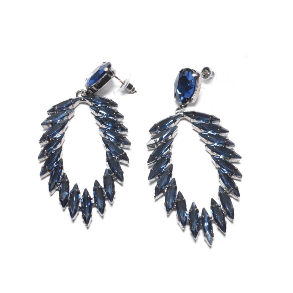 TFA - Χειροποίητα βραδινά σκουλαρίκια μπλε