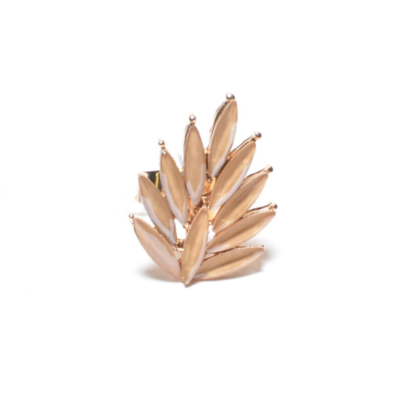TFA - Χειροποίητο σομόν δαχτυλίδι με πέτρες