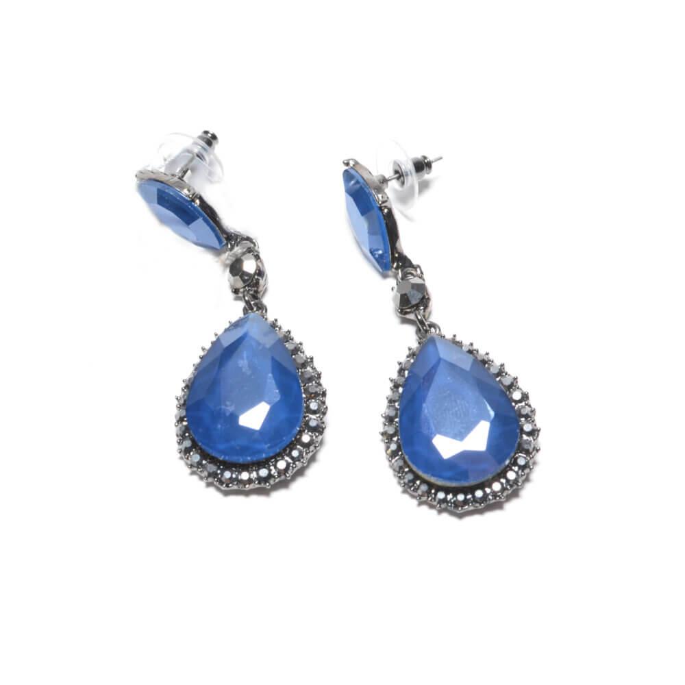 TFA - Μπλε χειροποίητα σκουλαρίκια Δάκρυ