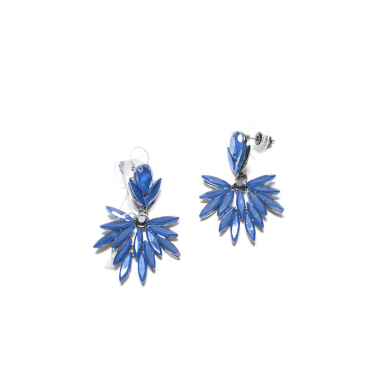 TFA - Χειροποίητα Σκουλαρίκια Βεντάλια Μπλε