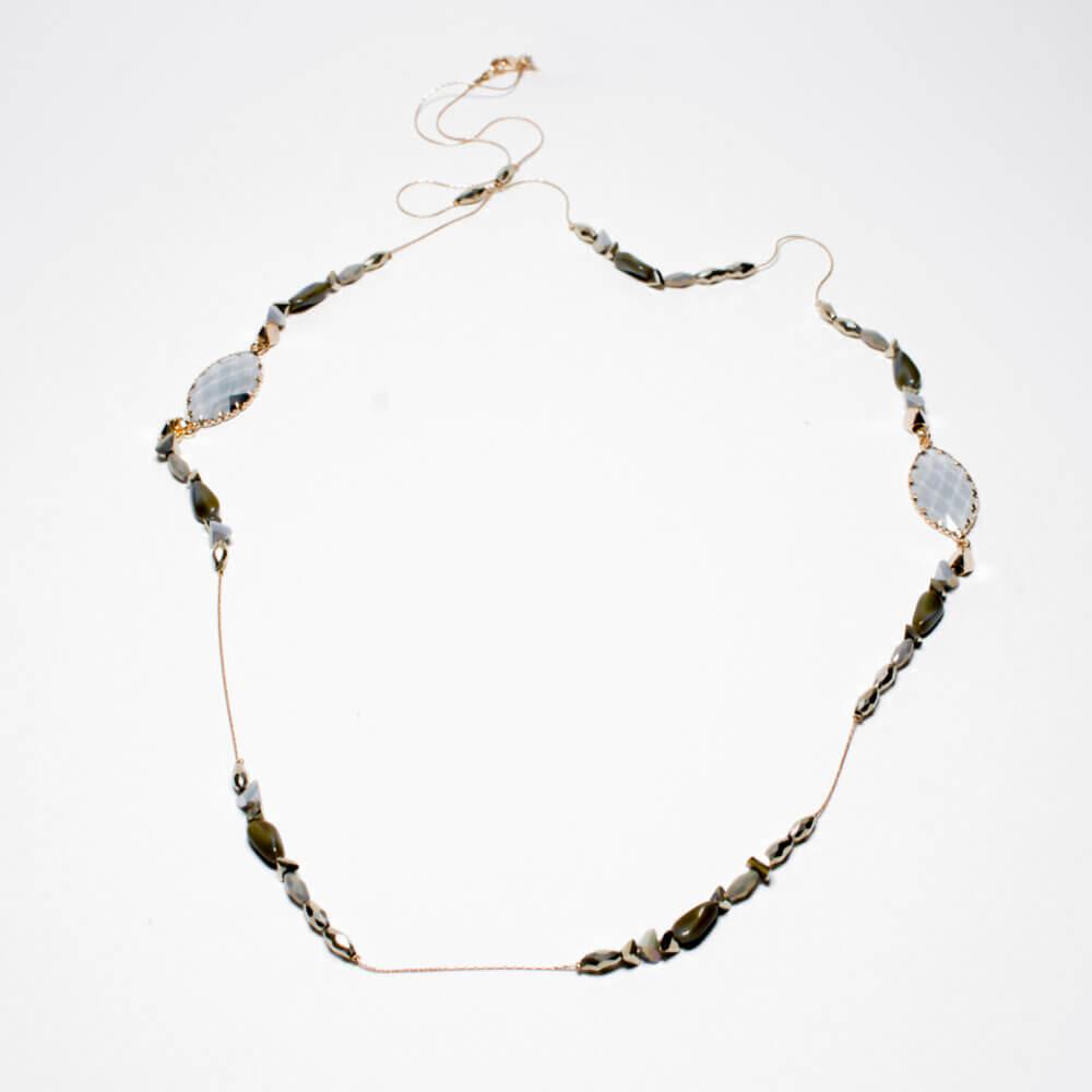 TFA - Χειροποίητο κολιέ με λαδί πέτρες