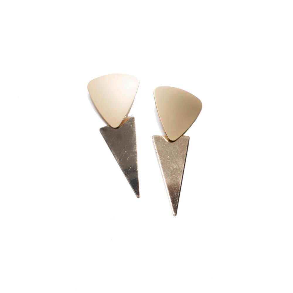 TFA - Μακριά μεταλλικά σκουλαρίκια με τρίγωνα