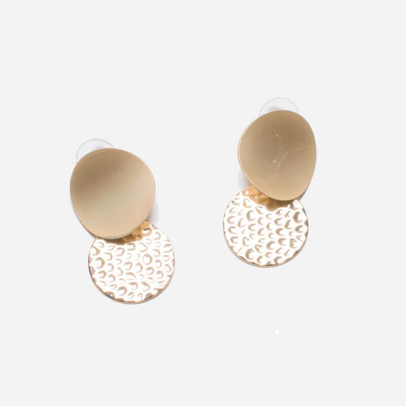 TFA - Μακριά μεταλλικά σκουλαρίκια με κύκλους