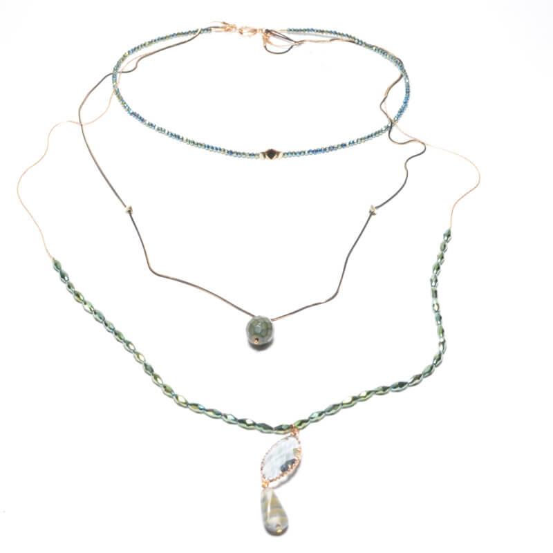 TFA - Χειροποίητο κολιέ με μπλε πέτρες