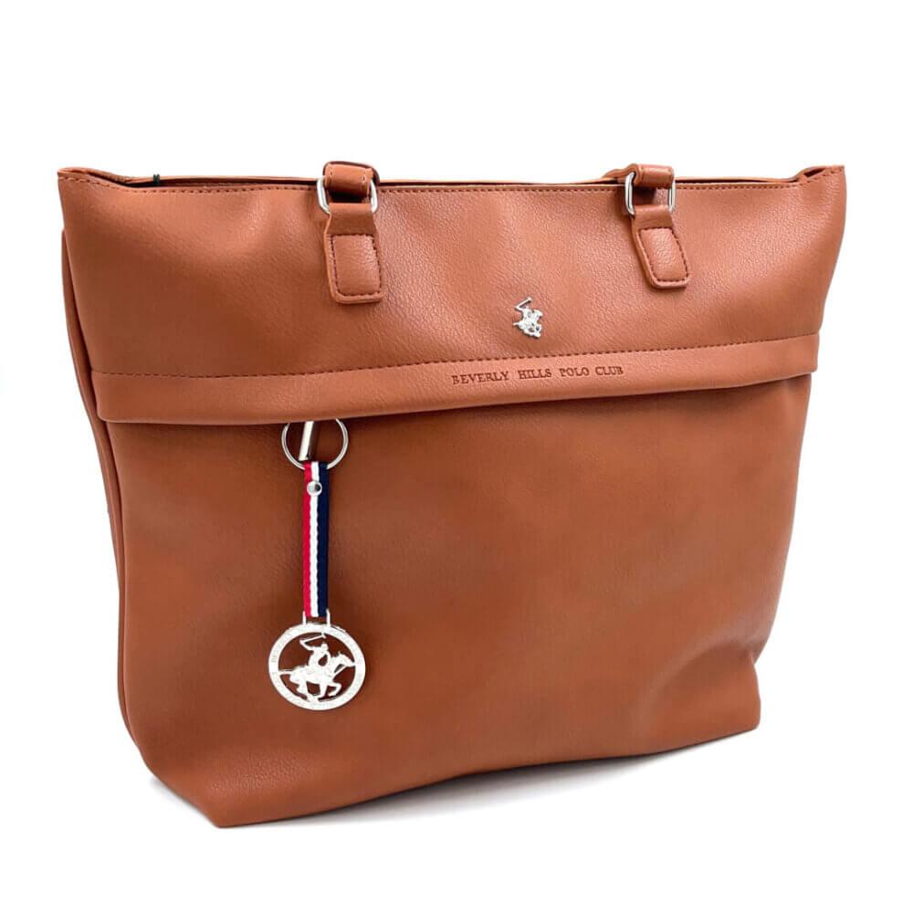 TFA - Τσάντα χειρός POLO BH-2302-CUOIO