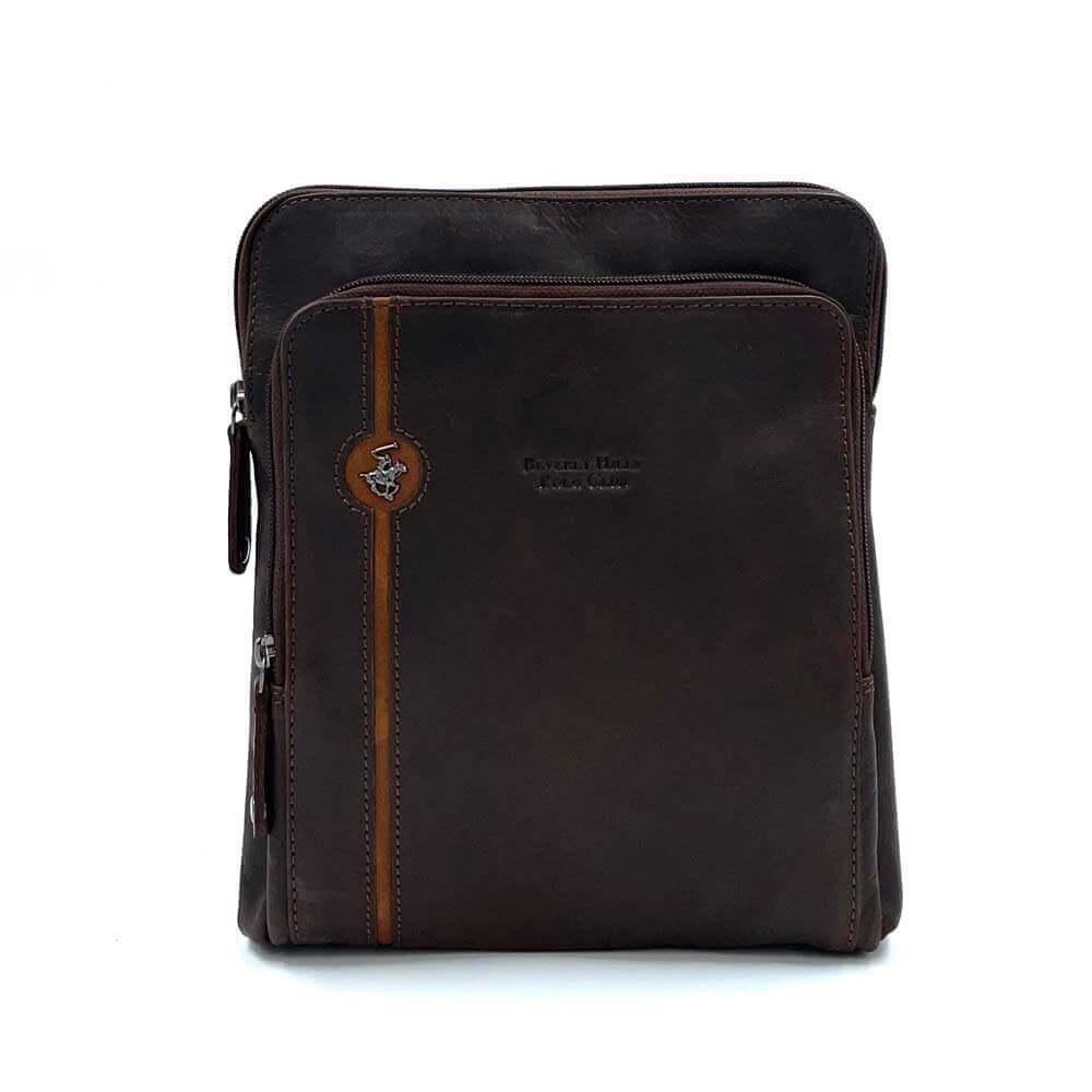 TFA - Τσάντα χιαστί POLO BH-381 - καφέ