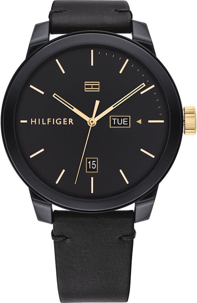 TFA - Ανδρικό ρολόι Tommy Hilfiger Denim Black Leather Strap 1791747