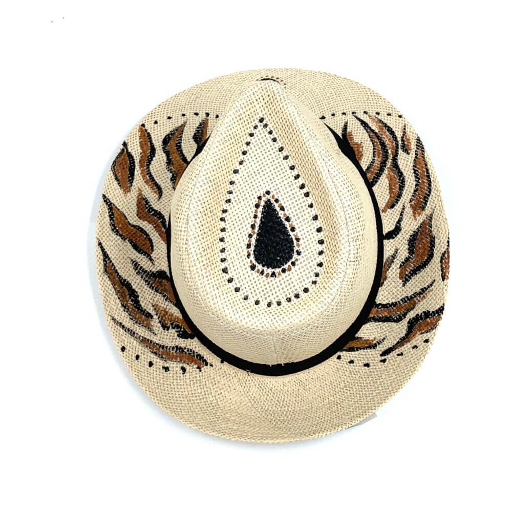 TFA - Χειροποίητο ψάθινο καπέλο Chaos - Beige