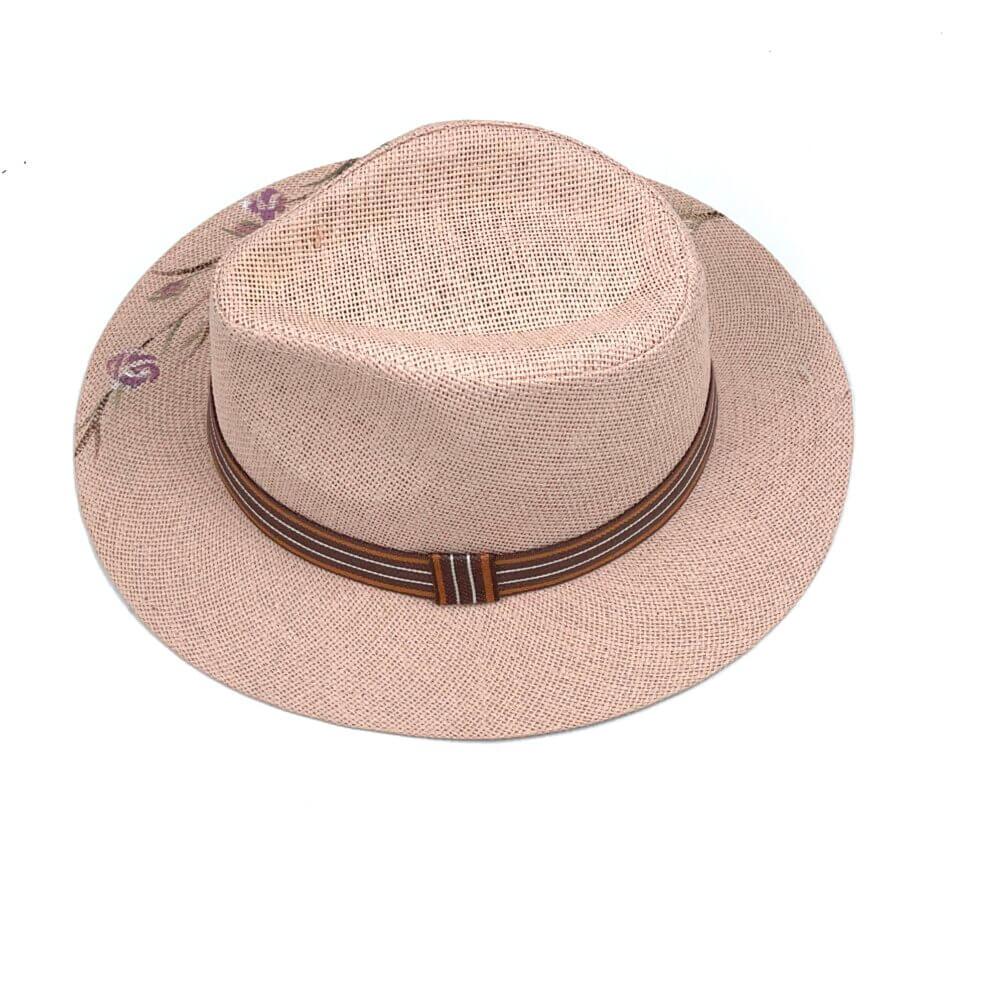 TFA - Χειροποίητο ψάθινο καπέλο Flowers  – Rose