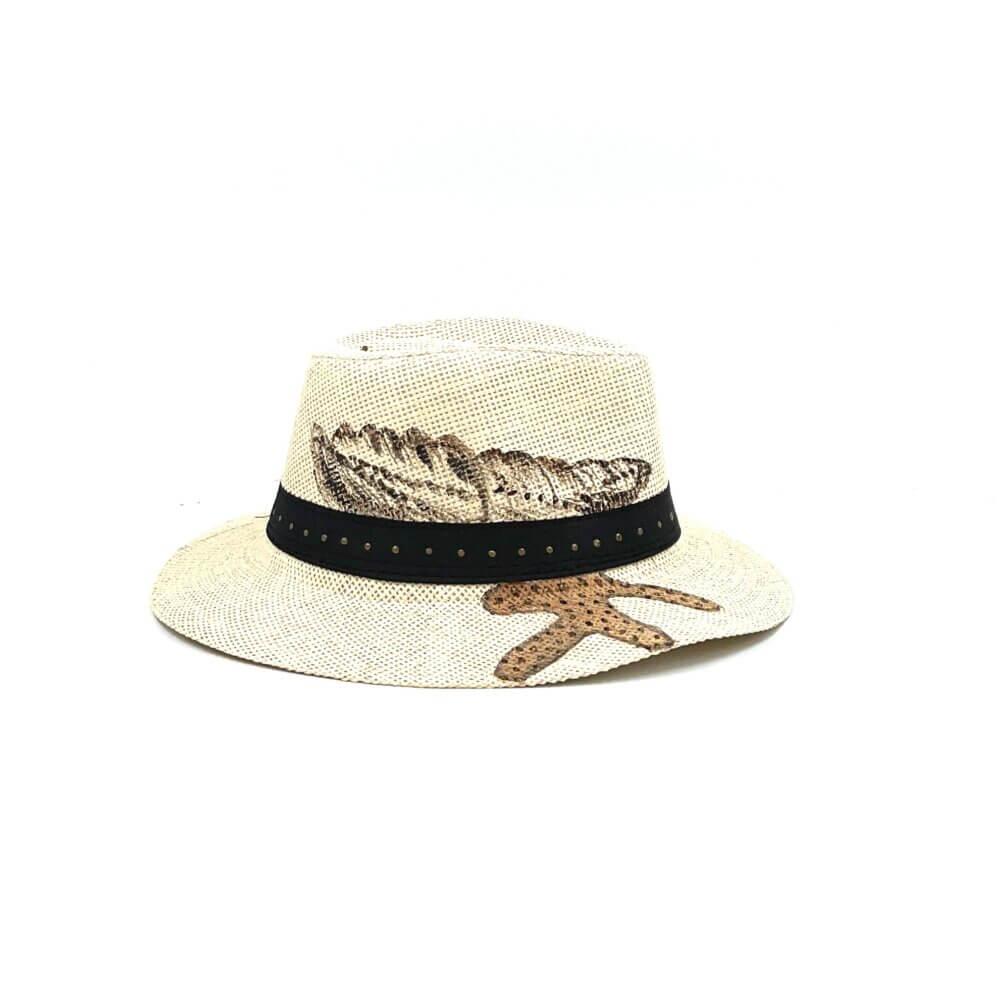 TFA - Χειροποίητο ψάθινο καπέλο Κοχύλι – Beige