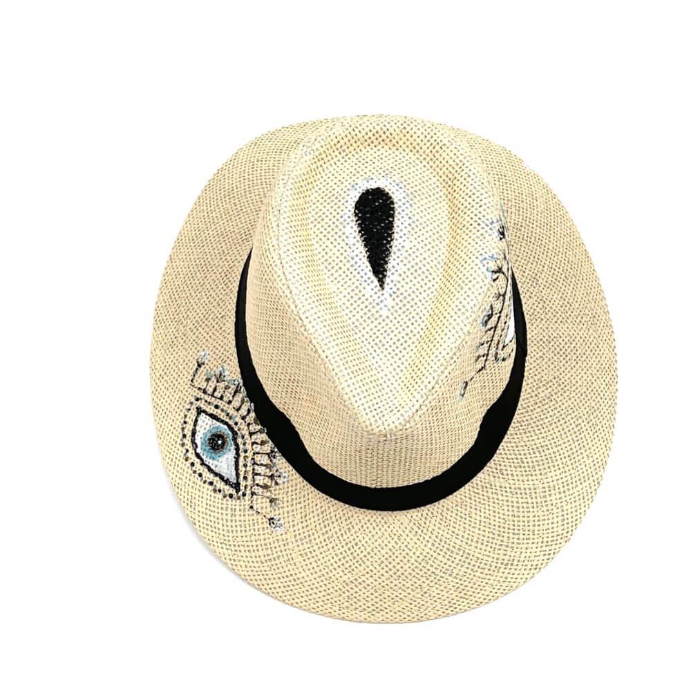 TFA - Χειροποίητο ψάθινο καπέλο The Eye of Life – Beige
