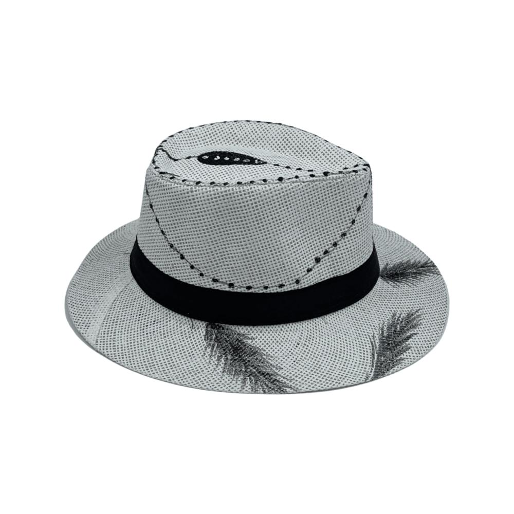 TFA - Χειροποίητο ψάθινο καπέλο Rosary – White
